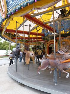 Boston Greenway Carousel. Look at the different animals on this one!