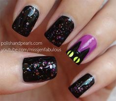 Amazing-Black-Cat-Nail-Art-Designs-Ideas-2014-2015-3.jpg 450×391 pixels