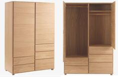 Hana II oak 2 door wardrobe