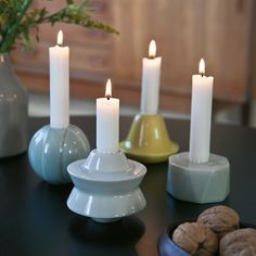 The candle holders decorate beautifully anywhere, and just placing one or two of them together also forms an amazing tableau.