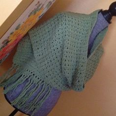 SALE ❤️NWT HANDMADE 100% cotton CROCHET SCARF Lovely shade of celery green cotton scarf/shawl.  Handmade by me. If you have allergies to wool, this is perfect for you...cotton!!! handmade Accessories Scarves & Wraps