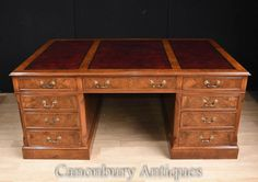 Ornate French Empire Partners Desk Kingwood and Gilt Big Desk, Large Desk, Armoire Buffet, Office Set, Desk Office, Statue Art, Statue Antique, Partners Desk, Writing Table