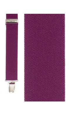 Dark Pink Newport Suspenders