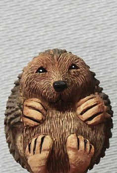 "Hedge Hog ""Eggimal"" by Keith Dalton, a Woodcarving instructor at the John C. Campbell Folk School 