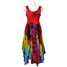 Rainbow Lace-up Full Circle Dress