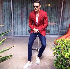That red blazer