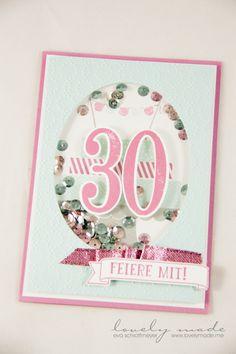 Stampin' Up! Schüttelkarte, Zum 30. Geburtstag, Bulid a Birthday, So viele Jahre