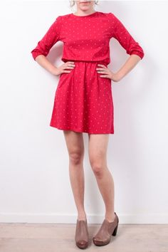 Cute little dress, people tree: http://www.todayisagoodday.be/vrouwen/people-tree-claudia-diamond-print-red.html