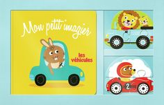Mon petit imagier les véhicules + 2 puzzles en bois - Coffret 1 livre et 2…