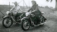 womenwhoride:  biker chicks, found photo