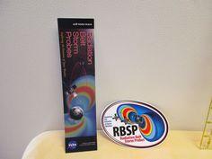 NASA RBSP Radiation Belt Storm Probes Mission Sticker And Bookmark