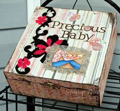 This is an adorable baby keepsake box!