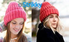 Это женская шапка бини с отворотом, вязаная спицами. Вязать шапку просто и быстро, работа производится по кругу обычной и пышной резинками.