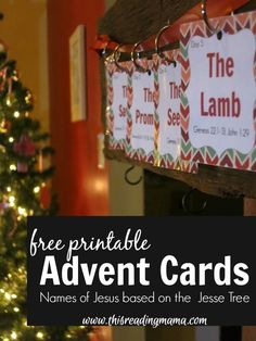 FREE Printable Advent Cards Based on the Jesse Tree ~ Teaching about Advent through the Scriptures | This Reading Mama