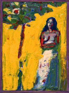 Artodyssey: Smaragda Papoulia - Emerald Papoulia-Vasilakoudi - Παπούλια Σμαράγδα Greek Paintings, Mediterranean Art, Light Study, Video Artist, Painter Artist, 10 Picture, Greek Art, Figure It Out, Figure Painting