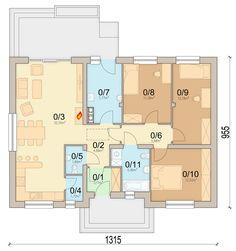 DOM.PL™ - Projekt domu ARN Mokka 2 CE - DOM RS1-78 - gotowy koszt budowy Bungalow, My House, House Plans, Minimalism, Floor Plans, How To Plan, Design, House Inspirations, Houses