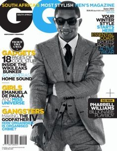 Pharrell Williams Covers GQ Magazine South Africa June Issue – The Neptunes #1 fan site, all about Pharrell Williams and Chad Hugo
