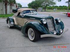 1936 Auburn Boattail Speedster replica-not a kit- but a factory built car from Speedster Motorcars