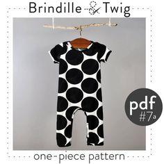 Baby pattern onepiece short and long sleeve by brindilleandtwig, $5.50