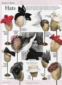 Tatler magazine, May 2013 #millinery #judithm #hats