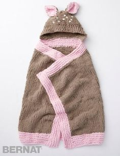 Oh Deer Baby Blanket | Wrap your baby in cuteness with this knit hooded blanket.