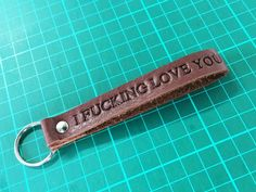 Leather keyring, leather keychain, 3rd anniversary gift, third anniversary, mens gift, Dads gift, husband gift, boyfriend gift, gift for men, groomsmen gift, moving in together gift, valentines gift
