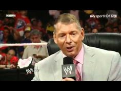 WWE RAW 7/11/11 CM Punk Vince (Mr) McMahon John Cena Segment Part 1 1/2