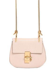 Chloé Mini Drew Grained Nappa Leather Bag on shopstyle.com