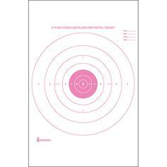 standard paper targets printed in red ink 25 yard timed and rapid fire bull's-eye target. Law Enforcement Targets, Rifle Targets, Shooting Targets, Target Practice, Yard, Paper, Gun, Prints, Action