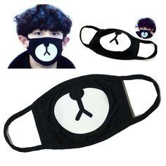 Outdoor Masks Couple Fashion Ayo And Teo Face Mask Panda Bape Mask Bear Mouth Guy Fawkes, Half Face Mask, Face Masks, Ayo And Teo Mask, Mascara Kpop, Panda Maske, Cute Fashion, Men Fashion, Street Fashion