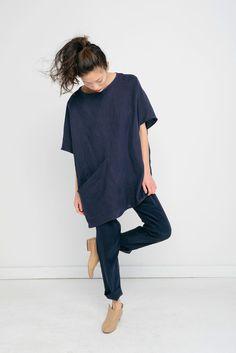 Harper Tunic in Linen @aesencecom Minimal Fashion Inspo