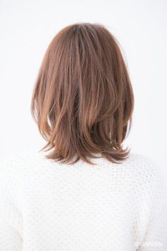 GARDENが提案する最新ヘアカタログ Medium Cut, Medium Hair Cuts, Medium Hair Styles, Short Hair Styles, Messy Bob Hairstyles, Haircuts For Long Hair, My Hairstyle, Medium Straight Haircut, Undercut Long Hair