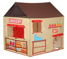 Amazon.com Pacific Play Grocery Store/Puppet Theater Tent Toys u0026 Games  sc 1 st  Pinterest : club house tent - memphite.com