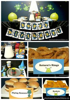 Alien Party Ideas including invites, decorations, food, activities, favors and more! #KidsParties