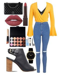 """""""Untitled #329"""" by clothyoulike ❤ liked on Polyvore featuring Topshop, Hanky Panky, NLY Trend, Carvela, Larsson & Jennings, Burt's Bees, Chanel and Lime Crime"""