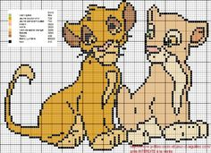Simba Bebe, Simba E Nala, Baby Simba, Plastic Canvas Crafts, Plastic Canvas Patterns, Cross Stitch Cards, Cross Stitching, Crochet C2c Pattern, Simba Disney