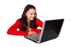 #beautiful #computer #female #girl #internet #laptop #notebook #smile #student #woman #work #young #public domain images