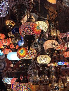 Beautiful lamps, Istanbul Turkey