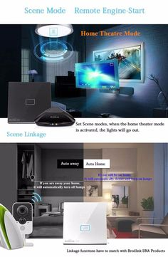 Broadlink Smart Home Original Touching 1 Load Panel Switch Wireless Remote Light Controller(UK Plug) - Tmart Theater Mode, Home Theater, Smartwatch, Apple Technology, Smart Home, Plugs, Remote, Touch, Lights