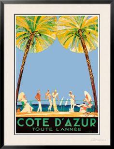Cote d'Azur Poster by Jean-Gabriel Domergue at AllPosters.com