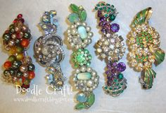 Doodle Craft...: Hair Candy...I love this! I think I will do this with some of my mom's old pieces!