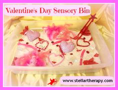 Easy Valentine Sensory Bin from Stellar Therapy Services!