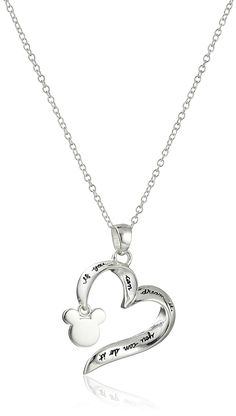 Disney Sterling Silver 'If You Can Dream It You Can Do It' Pendant Necklace 18' *** Discover this special jewelry, click the image : Jewelry