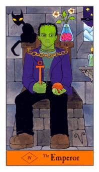 October 31 Tarot Card: The Emperor (Halloween deck) This is a solid day to focus on foundations, firm plans ... and Frankenstein. Happy Halloween!