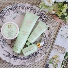 Pixi prep for your special party! Glow Mud Cleanser, Glow Tonic To-Go, Overnight Glow Serum, & Nourishing Sleep Mask are #PixiGlow spring skincare essentials.  (link in bio) #PixiBeauty #PixiByPetra #Skincare
