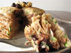 Zucchini Bread Pancakes (With Chocolate Chips