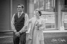 Toronto City Hall Wedding - Couple's first look.