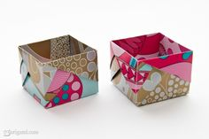 Origami Boxes/Krimskrams Box/1