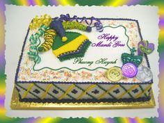 mardi gras sheet cakes