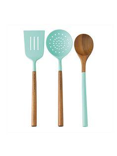 // set of 3 kitchen tools, turq